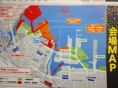 横浜花火会場MAP